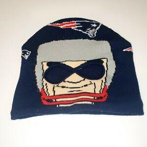 Game Face NE Patriots Vintage knit hat Helmet Ski mask  Beanie Youth Boys