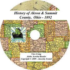 1892 History & Genealogy of AKRON & SUMMIT County Ohio