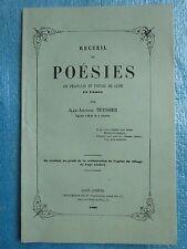 TEYSSIER vigneron : RECUEIL DE POESIES en patois de Lupé (Forez), 1863.