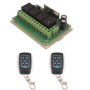 12V 4Channel Wireless Remote Switch Relay Control Transeiver Switch 4 CH Module