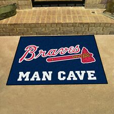 "Atlanta Braves Man Cave 34"" x 43"" All Star Area Rug Floor Mat"