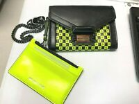 Michael Kors Whitney Small Chain Strap Convertible Carryall ID Wallet Neon $168
