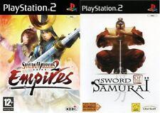 samurai warriors 2 empires & sword of the samurai    PAL PS2