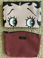 IPSY Lot of 2 NEW Makeup Glam Bag ~Betty Boop and Wine Lace/Bat Zip