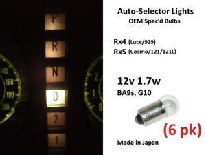 6x Auto-Selector Light Bulbs; 12v 1.7w BA9s; Mazda Rx5 121L Cosmo, Rx4 929 Luce