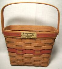 #700 - LONGABERGER CHRISTMAS COLLECTION, HOLIDAY MEMORY BASKET, 1989 EDITION