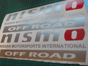 NISSAN PANEL NISMO 4x4 Off Road decals ...ON 12 YEAR VINYL..x2