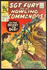 SGT.FURY HOWLING COMMANDOS #37 1966 GLOSSY SWEET FN/VF DIE IN THE DESERT