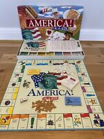 AMERICA IN A BOX Board Game Late for the Sky Production Company Rare Complete