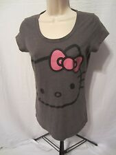 Hello Kitty Graphic T-Shirt - Gray - Juniors Large
