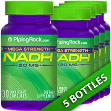 Piping Rock Mega Strength NADH 20 mg 5X30 Caps Memory/Mental/Brain Health