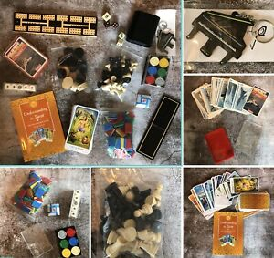 Job Lot Games Tarot Cards Top Trumps Chess Dice Crib Poker Chips Spare Parts