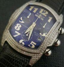 Rare Invicta Swiss Diamond Pave Chronograph Date Ltd Production Lupah