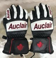 Auclair Race Ski Gloves Adult XS Small Vintage / Retro Canada Team Black Red