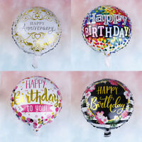 18'' round happy birthday foil balloons birthday inflatable toys party decorP x^