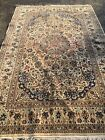 Antique 7'x10' WOOL/SILK Nain Naeen Oriental Area Rug Hand-Knotted Beige