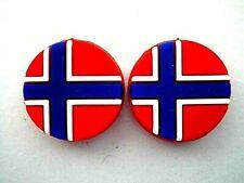 2 Norway Flags Norwegian Tennis Vibration Shock Absorber Dampener Ruud