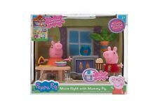 Peppa Pig Movie Night with Mummy Pig Livingroom Playset W/ Light up TV NEW