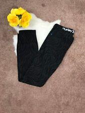 Hurley Woman Jeans Pant '81 Skinny Stretch Zebra Animal Print Black Sz 27 L30