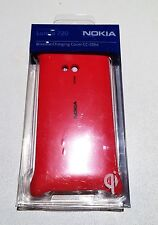 NOKIA LUMIA 720 RED BATTERY COVER WIRELESS CHARGING CC-3064 GENUINE