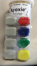 Apoxie Sculpt Modeling Clay Primary Color Kit Red, Green,Yellow, and Blue