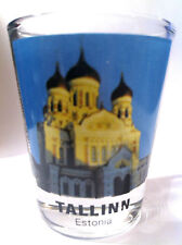 TALLINN ESTONIA ALEXANDER NEVSKY CATHEDRAL SHOT GLASS SHOTGLASS