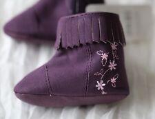 NEW Baby Girl Fringe Boots Purple Booties /Newborn/0-6 months