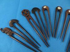 10 pcs wholesale wooden hair pin handmade Bali wood carving*Ship From US/Canada*