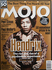 MOJO  50 – JANUARY 1998 – JIMI HENDRIX ISSUE - COVER & FEATURED ARTIST