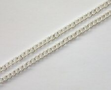 Silver plated chain 32 feet open links curb chain 4x3mm for jewelry making (724)