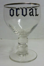 ANCIEN VERRE A BIERE  EMAILLE ORVAL *