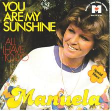 """""""7"""" - MANUELA - You are my sunshine - Werbeplatte Air Conti Flugreisen"""