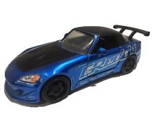 Jada Die Cast 1/24 Import Racers 2001 Honda S2000 Greddy Blue & Black GC