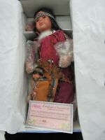 Cathay Collection Native American Indian Porcelain Doll 21""
