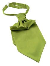 Cravate ascot Lavalière foulard pré-noué vert pour homme - Men green tie ascot