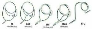 BRG - HARD CHROME UNBRACED BOAT ROD WIRE GUIDES 1 PER ORDER