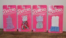 Lot 4 tenues habits vêtements BARBIE Genuine Vintage Neufs MATTEL 1989
