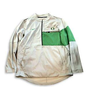 New Oregon Ducks Nike 1/2 Zip Sideline Hybrid Shield Size Large Jacket