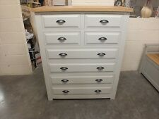 HAMPSHIRE PAINTED 4 OVER 4 DRAWER CHEST /SOLID PINE - SOLID OAK - F&B AMMONITE