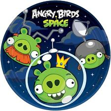 ANGRY BIRDS SPACE PARTY SUPPLIES DESSERT PLATES - PACK OF 8
