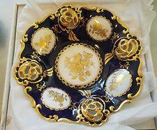 Extreme Rare Mihn Long I Czech Bohemia Original Cobalt Porcelain Fruit Bowl NIB
