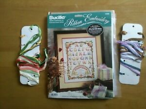 """Bucilla silk ribbon embroidery kit """"alphabet and the language of love"""