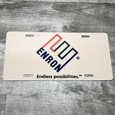 ENRON Endless Possibilities License Plate Authentic Swag Given To Employ RARE