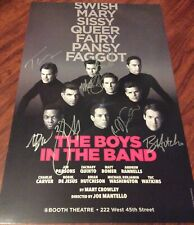 BOYS IN THE BAND CAST SIGNED THEATRE POSTER BOMER RANNELLS QUINTO BROADWAY