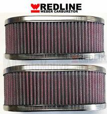 WEBER 40DCOE / 45DCOE Carburetor Oval Air Filter Assembly - 1 Pair (2 filters)