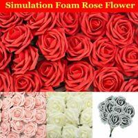 7.5CM Artificial Flowers Handmade Foam Rose Heads Wedding Party Decor Bouquet