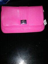 Ladies Fuchsia Pink leather clutch bag M & Co