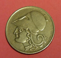 Greece Coin 1926-- 2 Dr- Goddess Athina VF Condition