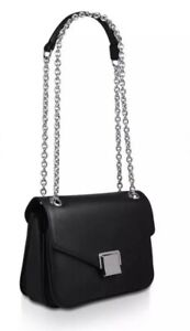 Women's Aldo 'AGRIERIA' Black chain Detail Crossbody Bag. 3 compartments BNWT.
