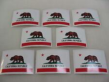 8 CALIFORNIA FLAG Sticker Decal LOT 4 boat car Window Truck suv Wholesale